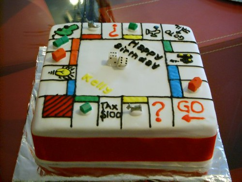 Monopoly Birthday Cake Made For A Friend S Daughter Who