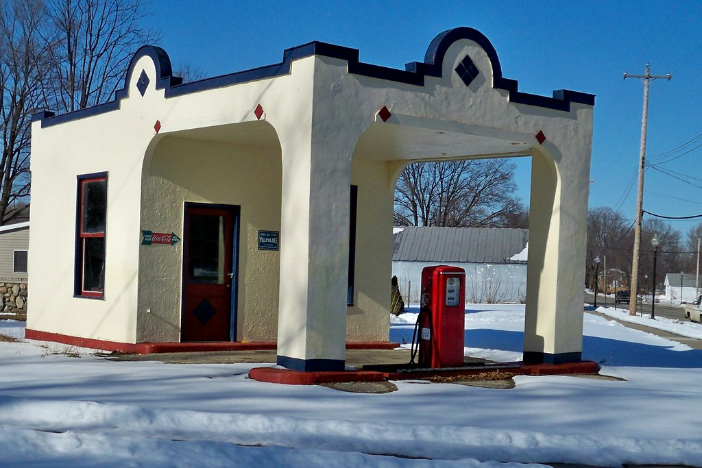 Old Time Gas Station In Sherwood Michigan This Old Gas