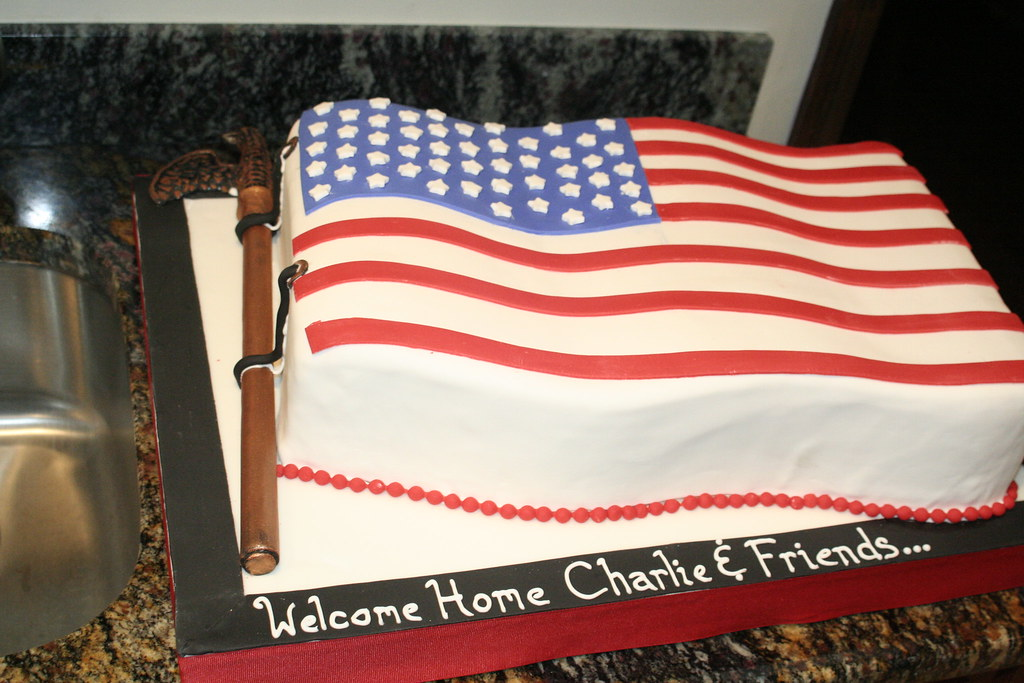 American Flag Cake | This cake was made for a group of guys ...