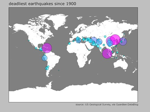 Map of deadliest earthquakes since 1900 map of the deadlie flickr map of deadliest earthquakes since 1900 by stevefaeembra gumiabroncs Gallery