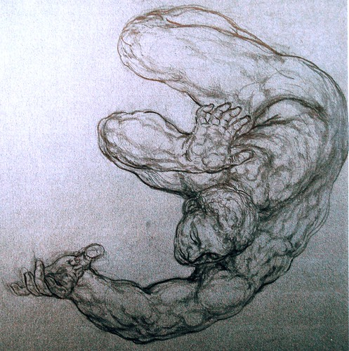 The Resurrection - Study for a figure - The Falling | by MichelAngelo▲