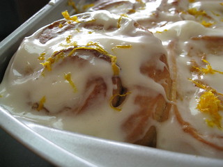 sticky meyer lemon rolls with lemon cream cheese frosting | by Ande S.