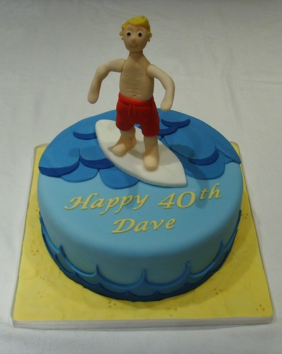 Surfing Dude Birthday Cake Www Thecustomcakeshop Co Uk