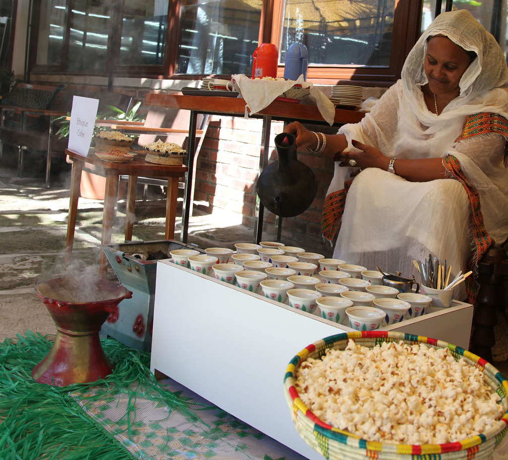 Serving Ethiopian Coffee Mrs Elsa Is Serving Ethiopian