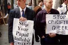 stop-your-papal-bullshit | by outragelondon