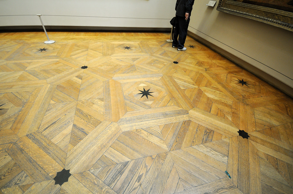 The Unmistakable Floor Of The Grand Gallery In The Louvre