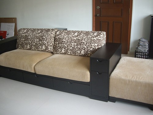 Excellent sofa set 3 seater long ottoman 600 flickr for Long couches for sale