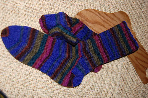 self-striping-regia-socks | by quiltingyrl