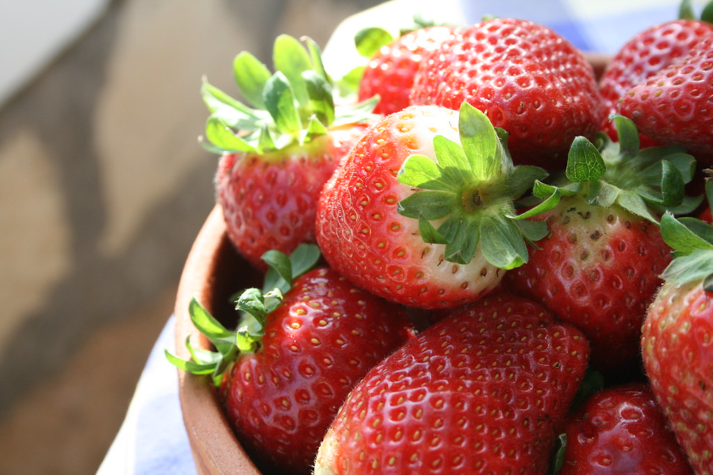 January strawberries in Cyprus