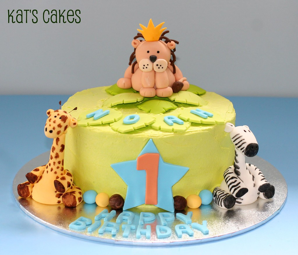Safari 1st Birthday Cake This Cake Is An Order I Received Flickr