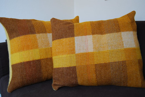 handmade wool cushion set 1 | by Studio SOIL