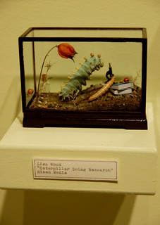 Lisa Wood, Caterpillar Doing Research, Mixed Media | by Curious Expeditions