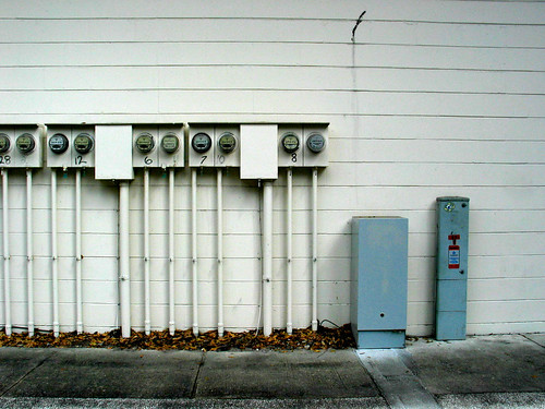 Apartment Utility Meters Wall | by cdsessums
