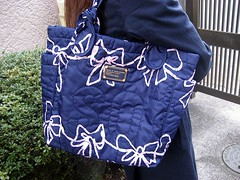 Twilight Bright Blue Pretty Nylon Tote by Marc by Marc Jacobs | by 8tokyo.com