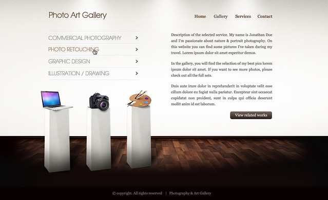 Art gallery htmlwp template services html template crea flickr art gallery htmlwp template services by webcrafters maxwellsz
