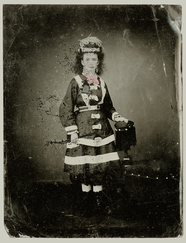 Tintype woman in costume