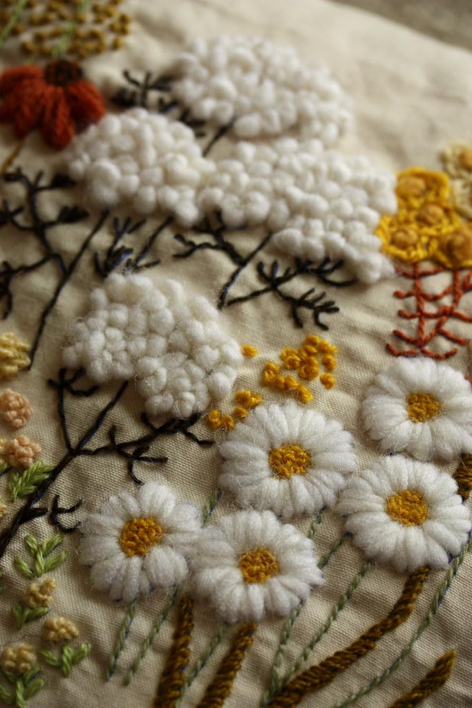 Вышивка нитками на ткани своими руками 25