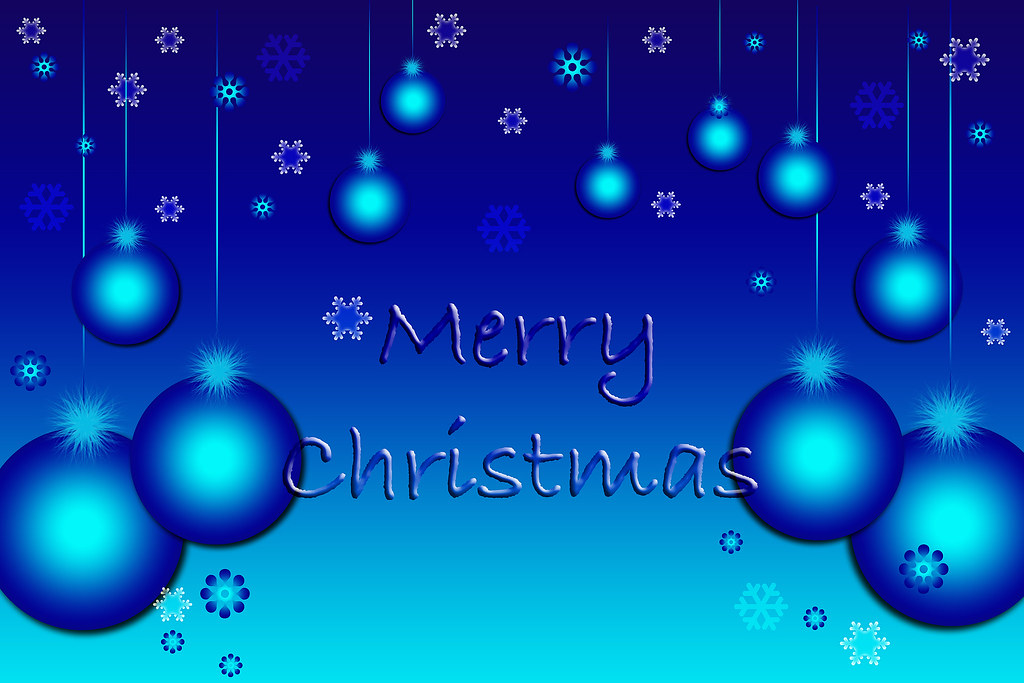 Merry Christmas Blue Wallpaper | Wishing you a very Merry Ch… | Flickr