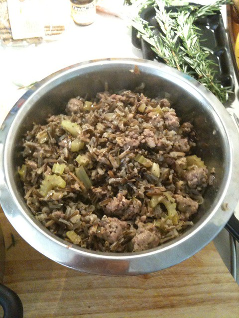 Wild rice stuffing perfect for your thanksgiving turkey for How to cook a 7kg turkey