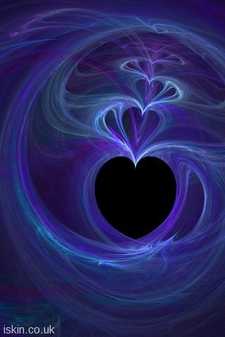 Iphone Wallpaper Fractal Love Hearts