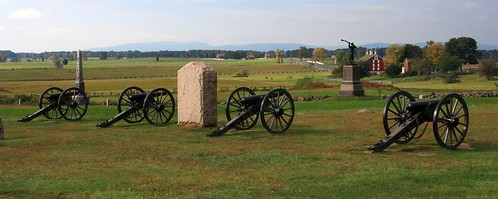 Union cannon on Cemetary Ridge looking across the field where Pickett's Charge took place | by Alaskan Dude