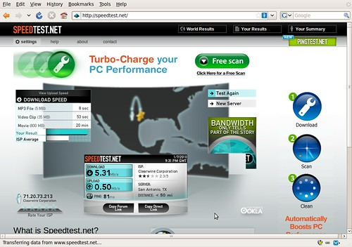 Clear WiMAX, Speed Test - Just got Clear WiMAX Internet ...