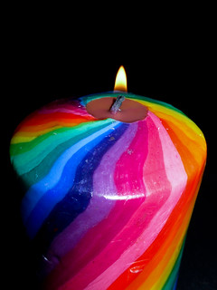 rainbow candle cj oliver flickr