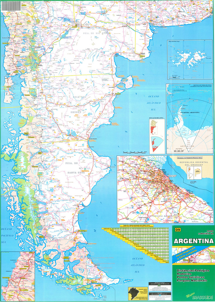 All Sizes ArgentinaChile Road Map Mapa Vial De Argentina - Argentina map download