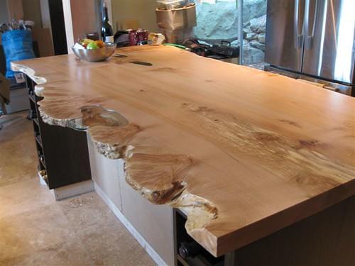 Live edge character slab kitchen island   Live Edge slab ...