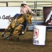 barrel racer in action