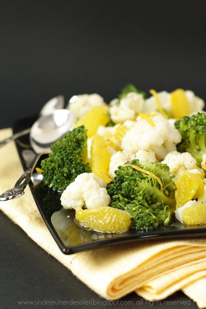 Salade Broccoli Chou Fleur Et Orange Recette Ricetta Reci Flickr