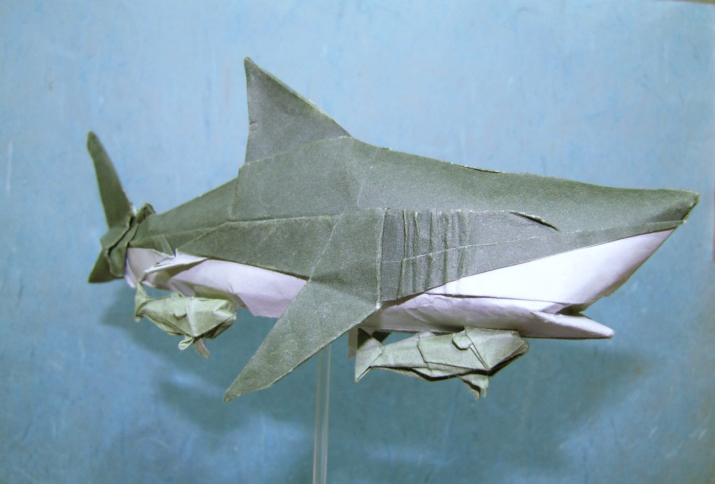 Origami Remora And Shark The Remora Is Less In Detail Beca Flickr