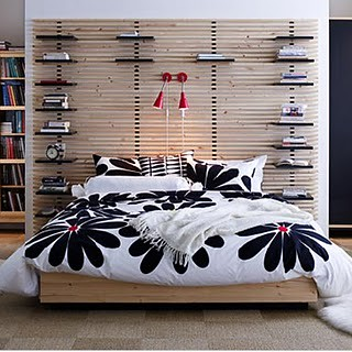 ikea mandal bed and headboard it looks nice with this bedd flickr. Black Bedroom Furniture Sets. Home Design Ideas