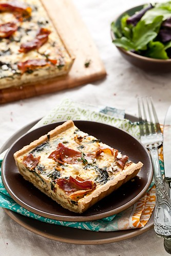 Gluten Free Swiss Chard, Goat Cheese and Proscuitto Tart | by tartelette