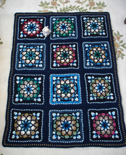 Stained Glass Window Afghan by Melody MacDuffee from the ...