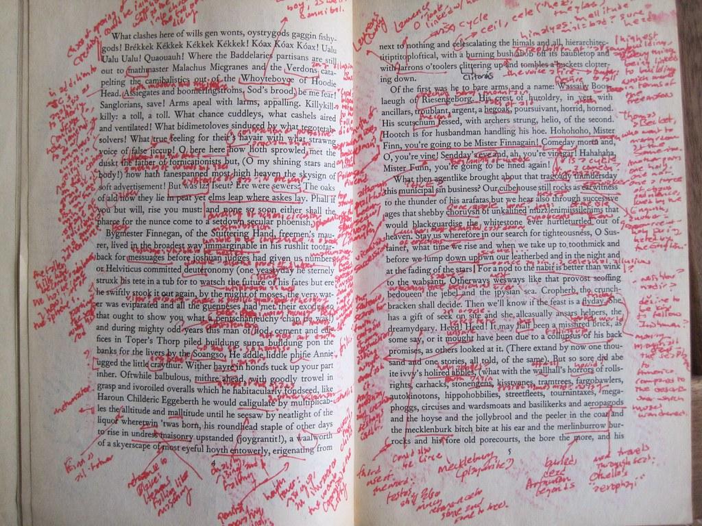 Annotations Finnegans Wake   From 1992 undergrad Finnegans