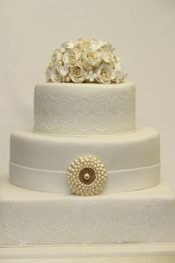 Hochzeitstorte Elegant Cremeweiss Www Suess Und Salzig De Flickr