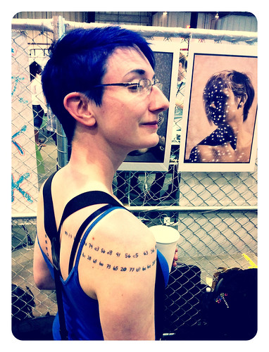 @Willowbl00's and her AACS tattoo. #MakerFaire2011 #09f9 | by sfslim