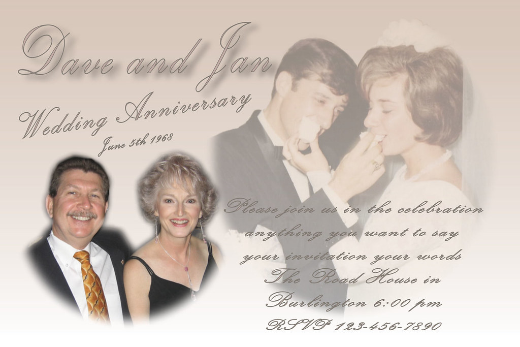 Wedding anniversary invitation custom photo collage multi u2026 flickr