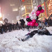 Snowstorm and snowball fight in Times Square, Manhattan, New York (larger size)