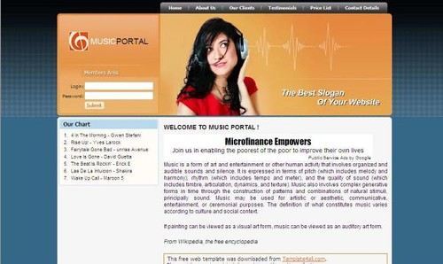 Free CSS Music Girls Website Template   Get This Template Fr…   Flickr