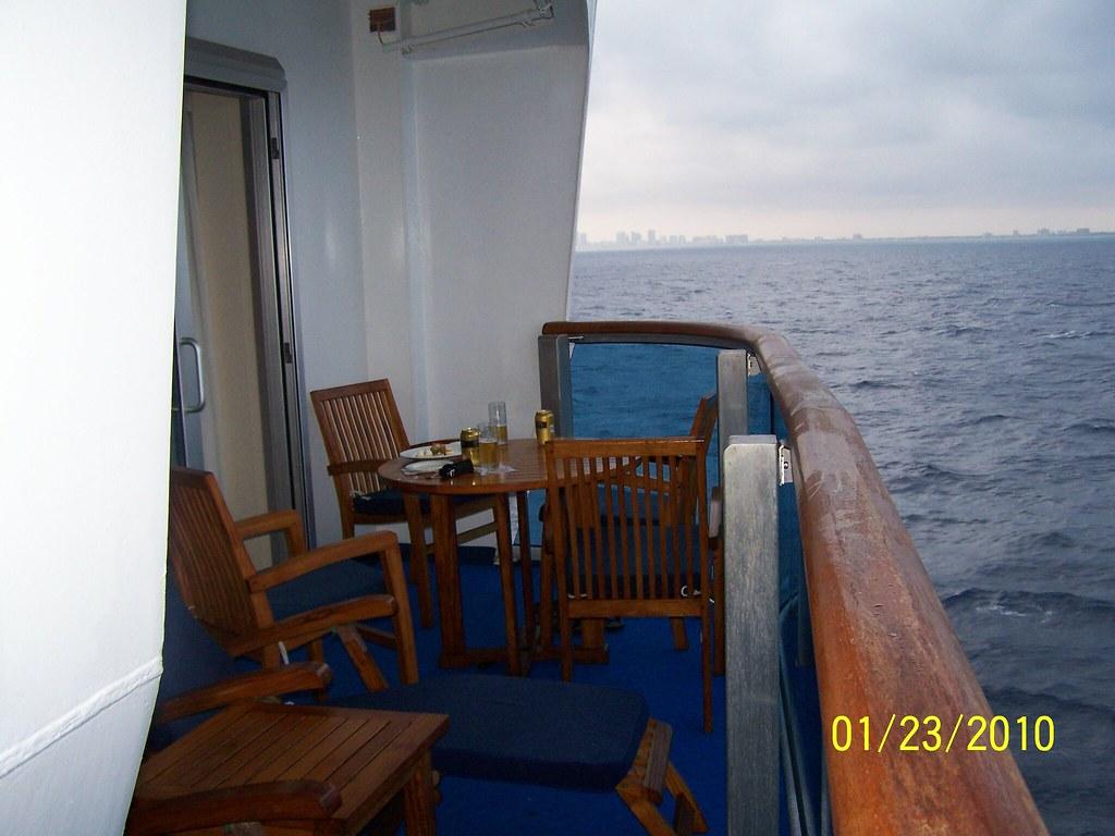 Our Balcony Balcony On Cabin E733 Emerald Princess