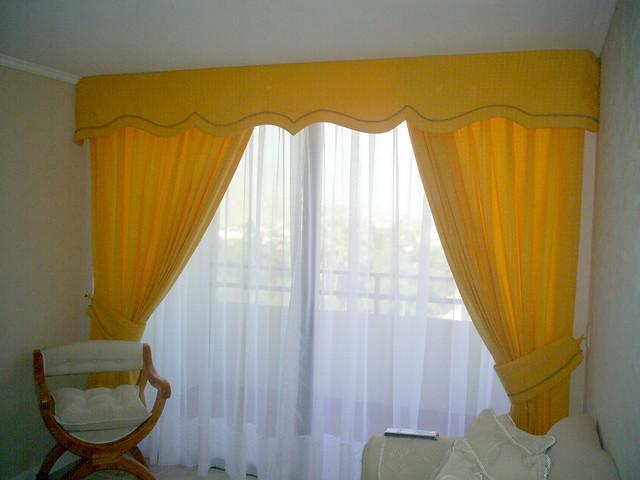 cortina cenefa cortina con cenefa en detalle de cordon