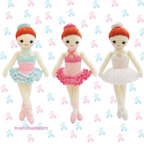 Amigurumi Tutorial Ballerina : Dress up Ballerina Girl Crochet Pattern ...
