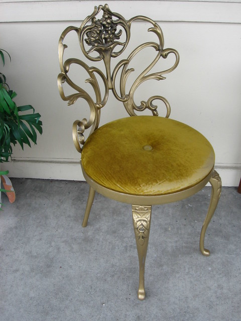 Sold princess vanity chair from 1960s flickr photo for Furniture consignment bellevue