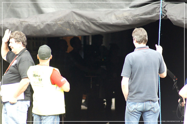 The Establishing Shot: Batman The Dark Knight Rises - London: Chris Nolan and the team checking a shot