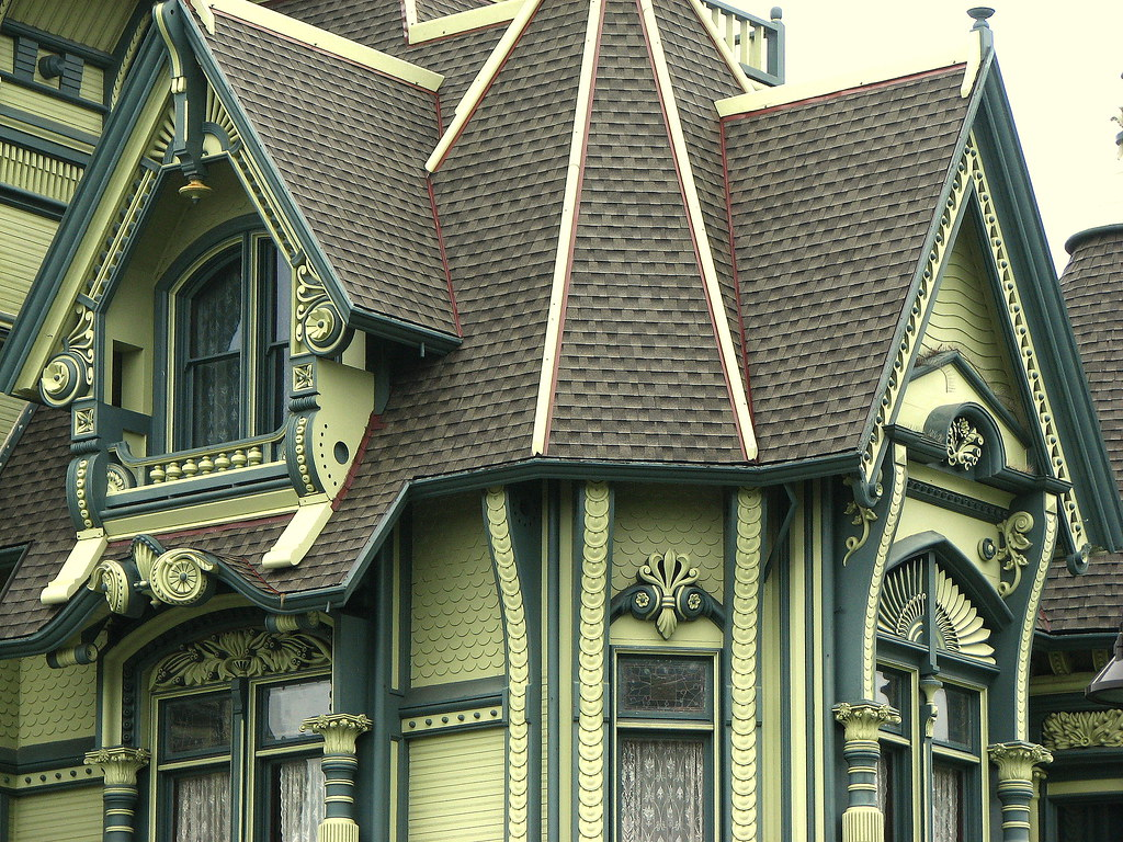 Detail carson mansion eureka ca david berry flickr for Victorian style modular homes