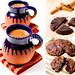 Champurrado and caramel cookies
