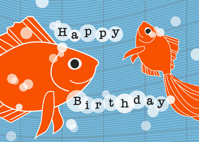 One fish two fish happy birthday card by man vs george flickr george by man one fish two fish happy birthday card by man vs george by man bookmarktalkfo Gallery
