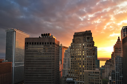 Sunset over Lower Manhattan, New York City | by andrew c mace